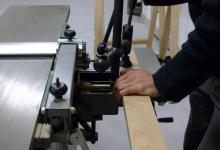 Stage bois, stage menuiserie sur machine combinée bois